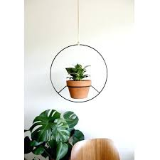 hanging planters leather and porcelain hanging vertical planter