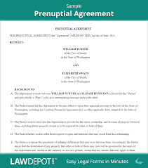 Sample Roommate Contract Prenuptial Agreement Form Free Prenup Forms Us Lawdepot