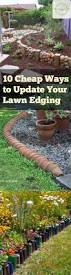 10 cheap ways to update your lawn edging outdoor living living