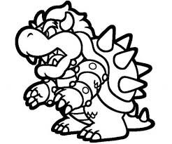 paper bowser coloring pages virtren com