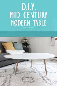 Midcentury Modern Table - diy mid century modern coffee table under 50 wonder forest