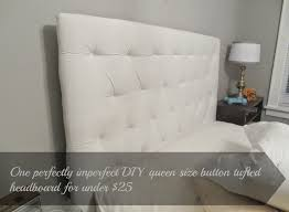 Diy Button Tufted Headboard Beyond The Portico One Diy Queen Size Button Tufted Headboard For