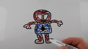 draw spiderman easy kids drawing whiteboard