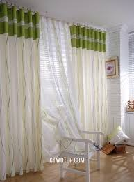 Green And White Gingham Curtains by Green Wave Striped Shabby Chic Overstock Buy Curtains