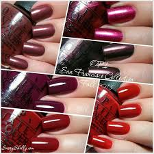 opi san francisco collection swatches u0026 review part 1