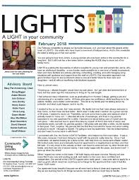 Six Flags Newsletter Lights February Newsletter Community Living Toronto