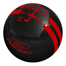 Red And Black Mustang Gt Shift Knob 2 1 8