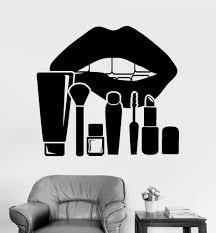 vinyl wall decal lips makeup cosmetics beauty salon stickers vinyl wall decal lips makeup cosmetics beauty salon stickers ig3771
