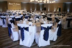 navy blue chair sashes white elite entertainment elite bridal