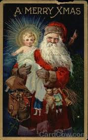 santa and baby jesus picture don t just stand there take your drum and go tell someone about