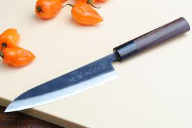 high carbon steel kitchen knives yoshihiro mizu yaki aogami blue high carbon steel kurouchi