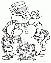 christmas coloring pages snowman resume collection