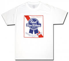 ribbon shirt pabst blue ribbon t shirt white label officially licensed pbr