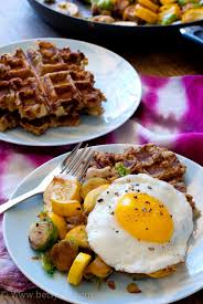 waffles and turkey vegetable hash