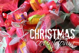 christmas candy countdown with free printables a and a glue gun