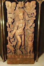 indian wood carving ebay