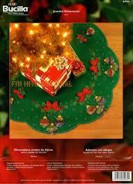 bucilla tree skirt woodland santa felt applique 43