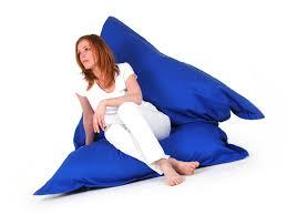siege poire pouf géant coussin de sol siège poire 140 x 180 cm bleu ebay