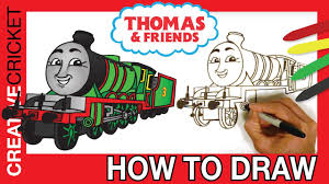 how to draw henry the green engine coloring with thomas and
