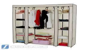 songmics 59 portable clothes closet wardrobe non woven fabric