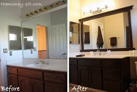 framed bathroom mirror ideas framing a mirror without miter cuts the six fix