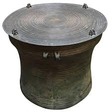drum table for sale burmese shan bronze rain drum side table for sale at 1stdibs