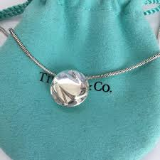 round chain necklace images Tiffany co silver alphabet letter n 3d round pendant snake 15 jpg