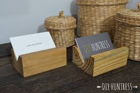 diy wooden business card holder diy huntress