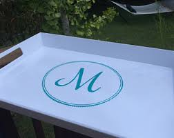 personalized tray breakfast tray etsy