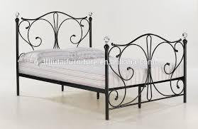 furniture king size double bed frame design metal bed room