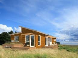 natural small kit homes that used wooden materials inside the