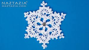 how to crochet a snowflake ornament diy tutorial winter