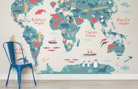 Kid Room Wallpaper by Explorer Kids World Map Mural Muralswallpaper Co Uk
