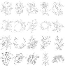 Flower Designs For Embroidery 818 Best Embroidery Handkerchiefs Images On Pinterest