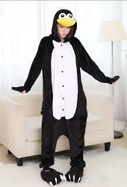 unisex flannel penguin onepiece pajamas pyjamas onesie