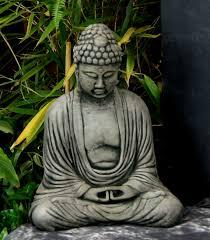 meditating sitting buddha garden statue concrete asian statue