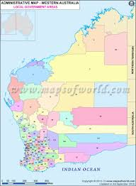 Washington Area Code Map by Western Australia Local Government Areas Map