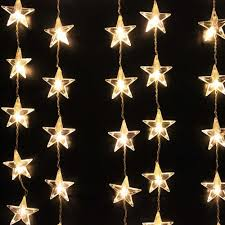 Curtain Fairy Lights by White 54 Led Boho Style Star Lights Curtain Fairy String U2013 Gogetglam