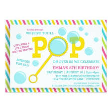 405 best bubble birthday party invitations images on pinterest