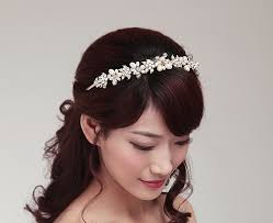 wedding hair bands handmade golden pearl hairband luxury rhinestone