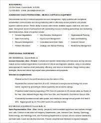 device sales representative resume examples war 2