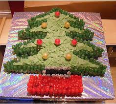 D Christmas Tree Cake - tree cake with red and yellow candy jpg