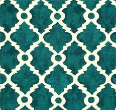 fabric teal blue green geometric home decor fabric by the