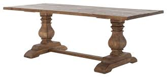 Reclaimed Wood Trestle Dining Table Traditional Dining Tables - Trestle kitchen tables