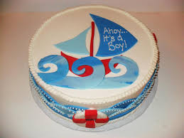 baby shower natical cakes pin nautical baby shower cake sail