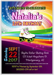 roller skating party invitations roller skating sports kids