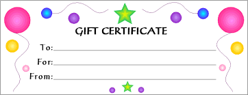 gift cards for kids 28 cool printable gift certificates baby