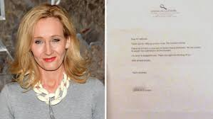 charity rejection letter sample j k rowling shares her rejection letters as inspiration for j k rowling shares her rejection letters as inspiration for aspiring writers today com