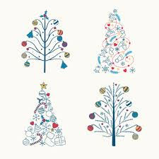 christmas tree cute design vector christmas vector festival