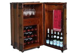 Wine Bar Cabinet Handcrafted Steamer Trunk Wine Bar Cabinet Omero Home